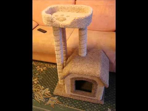 Домик для котов сделан своими руками